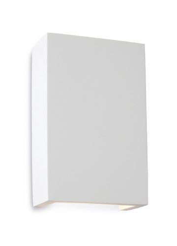 Firstlight 8324 White with White LED's Gallery Square Plaster Wall Light